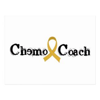 Chemo Coach - Childhood Cancer Gold Ribbon Postcard