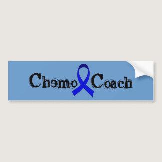 Chemo Coach - Colon Cancer Blue Ribbon Bumper Sticker