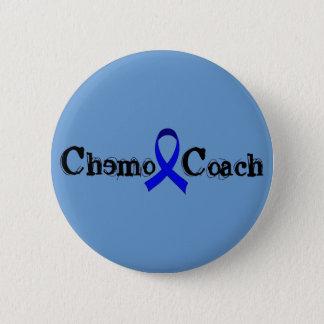 Chemo Coach - Colon Cancer Blue Ribbon Button