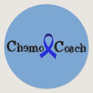 Chemo Coach - Colon Cancer Blue Ribbon Classic Round Sticker
