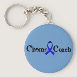 Chemo Coach - Colon Cancer Blue Ribbon Keychain