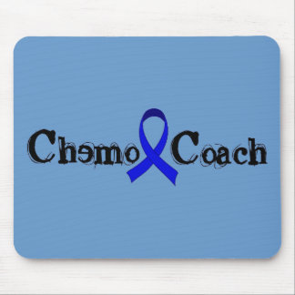 Chemo Coach - Colon Cancer Blue Ribbon Mouse Pad