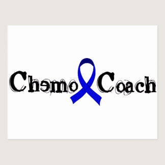 Chemo Coach - Colon Cancer Blue Ribbon Postcard