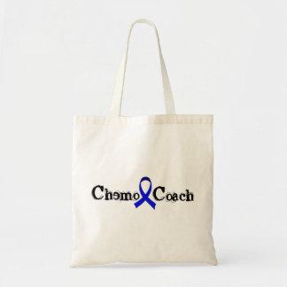 Chemo Coach - Colon Cancer Blue Ribbon Tote Bag