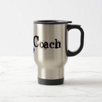 Chemo Coach - Colon Cancer Blue Ribbon Travel Mug