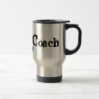 Chemo Coach - Colon Cancer Blue Ribbon Travel Mug