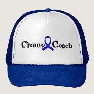 Chemo Coach - Colon Cancer Blue Ribbon Trucker Hat