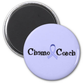 Chemo Coach - General Cancer Lavender Ribbon 2 Inch Round Magnet