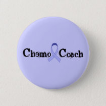 Chemo Coach - General Cancer Lavender Ribbon Button