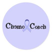 Chemo Coach - General Cancer Lavender Ribbon Classic Round Sticker