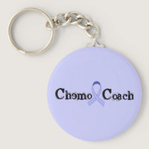 Chemo Coach - General Cancer Lavender Ribbon Keychain