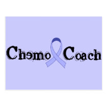 Chemo Coach - General Cancer Lavender Ribbon Postcard
