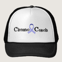 Chemo Coach - General Cancer Lavender Ribbon Trucker Hat
