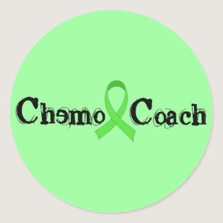 Chemo Coach - Green Ribbon Classic Round Sticker