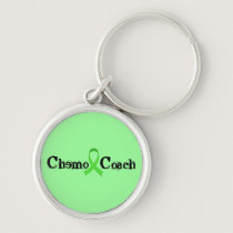 Chemo Coach - Green Ribbon Keychain