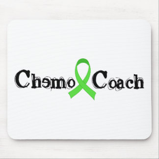 Chemo Coach - Green Ribbon Mouse Pad