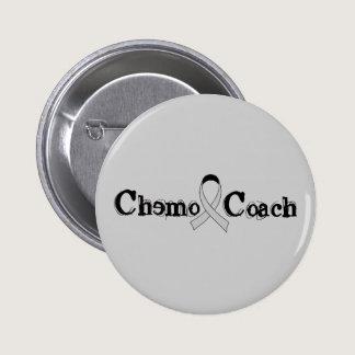 Chemo Coach - Grey Ribbon Brain Tumor / Cancer Pinback Button