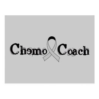 Chemo Coach - Grey Ribbon Brain Tumor / Cancer Postcard