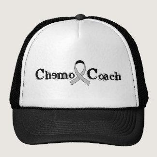 Chemo Coach - Grey Ribbon Brain Tumor / Cancer Trucker Hat