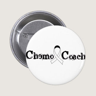 Chemo Coach - Lung Cancer White Ribbon Button