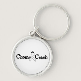 Chemo Coach - Lung Cancer White Ribbon Keychain