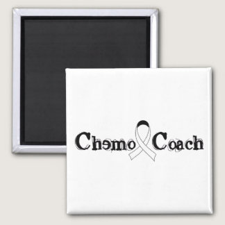 Chemo Coach - Lung Cancer White Ribbon Magnet