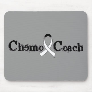 Chemo Coach - Lung Cancer White Ribbon Mouse Pad