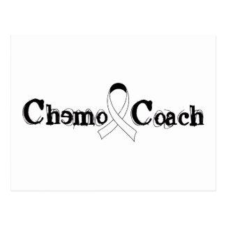 Chemo Coach - Lung Cancer White Ribbon Postcard