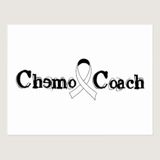Chemo Coach - Lung Cancer White Ribbon Postcard