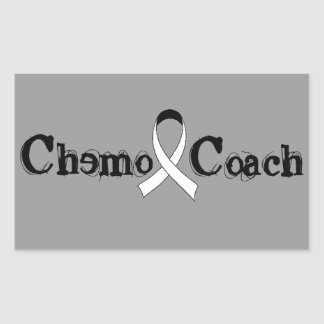Chemo Coach - Lung Cancer White Ribbon Rectangular Sticker