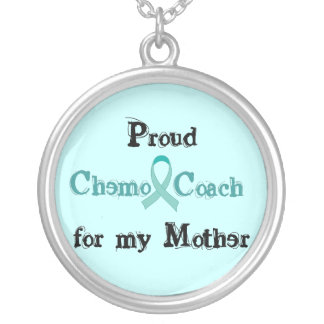 Chemo Coach Mother Round Pendant Necklace