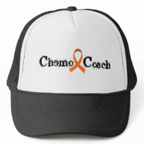 Chemo Coach - Orange Ribbon Trucker Hat