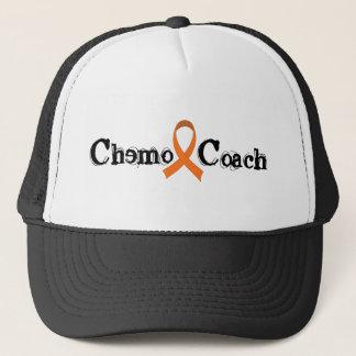 Chemo Coach - Orange Ribbon Trucker Hat