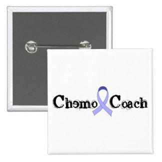 Chemo Coach - Periwinkle Ribbon 2 Inch Square Button