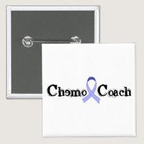 Chemo Coach - Periwinkle Ribbon Button