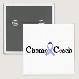 Chemo Coach - Periwinkle Ribbon Button