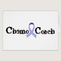 Chemo Coach - Periwinkle Ribbon Card