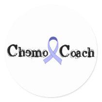 Chemo Coach - Periwinkle Ribbon Classic Round Sticker
