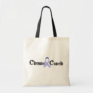 Chemo Coach - Periwinkle Ribbon Tote Bag
