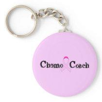 Chemo Coach - Pink Ribbon Breast Cancer Keychain