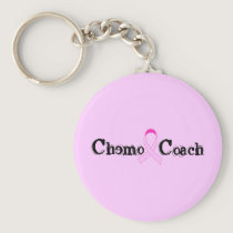 Chemo Coach - Pink Ribbon Breast Cancer Keychain