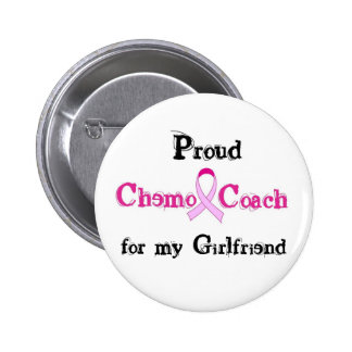 Chemo Coach - Pink Ribbon Breast Cancer Pinback Button