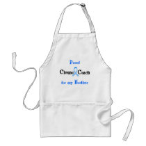Chemo Coach Prostate Cancer Light Blue Ribbon Adult Apron