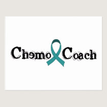 Chemo Coach - Teal Ribbon Postcard
