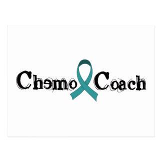 Chemo Coach - Teal Ribbon Postcard