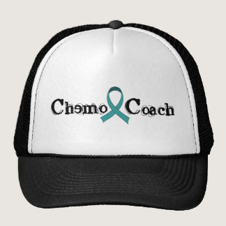 Chemo Coach - Teal Ribbon Trucker Hat