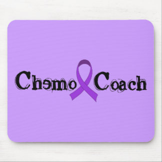 Chemo Coach - Violet Ribbon Mouse Pad