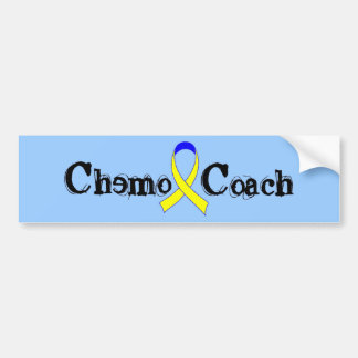 Chemo Coach - Yellow Ribbon Car Bumper Sticker