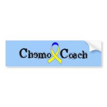 Chemo Coach - Yellow Ribbon Testicular Cancer Bumper Sticker