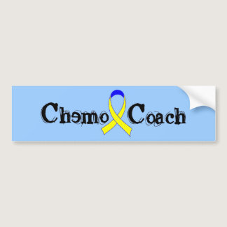Chemo Coach - Yellow Ribbon Testicular Cancer Bumper Sticker